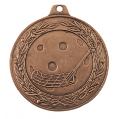 Medaile florbal bronzová IL50/B