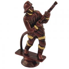 Soška hasič bronzová