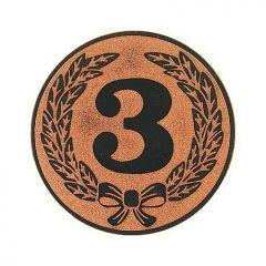 "EMBLÉM BRONZOVÝ ""3"""