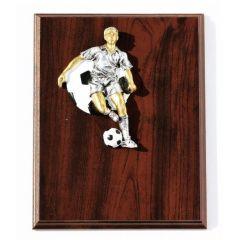 Dřevěný diplom s motivem fotbalu