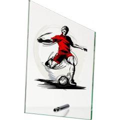 Skleněná plaketa fotbalista SG1020/SOC VÝPRODEJ
