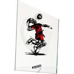 Skleněná plaketa volejbal SG1020/VOL VÝPRODEJ
